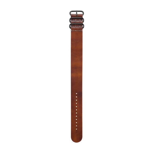 皮革腕带 - 棕