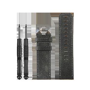 fēnix® 3深灰色裂纹皮表带