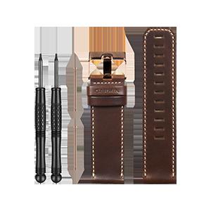 fēnix® 3 咖啡色皮表带(玫瑰金表扣)