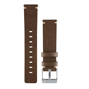 vivomove™ 深棕色皮革表带