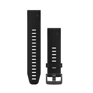 墨黑色硅胶快拆表带(20mm)