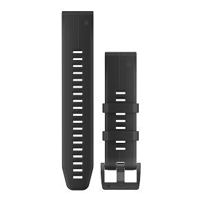 墨黑色硅胶快拆表带(22mm)