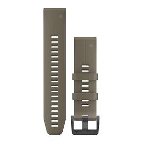 狼棕色硅胶快拆表带(22mm)